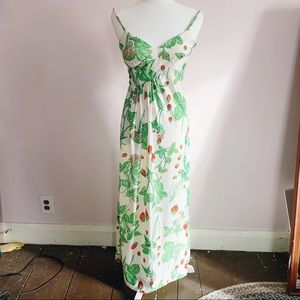 Vintage 50s Lord and Taylor Strawberries Sun Dress